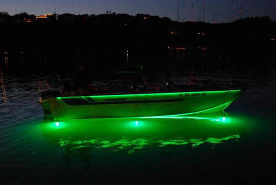 best color light for night fishing