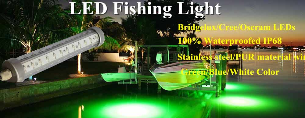 5w 100w 12 24v led underwater fishing light toponechoice for Green light fishing